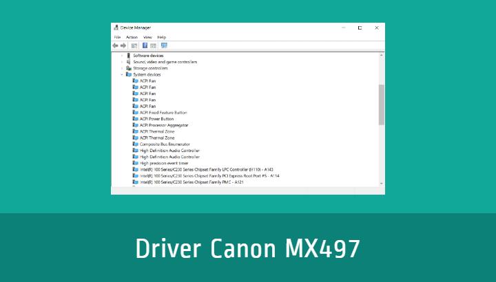 Driver Canon MX497